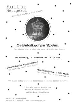 Kulturmetzgerei - Orientalischer Abend 3. Oktober 2015